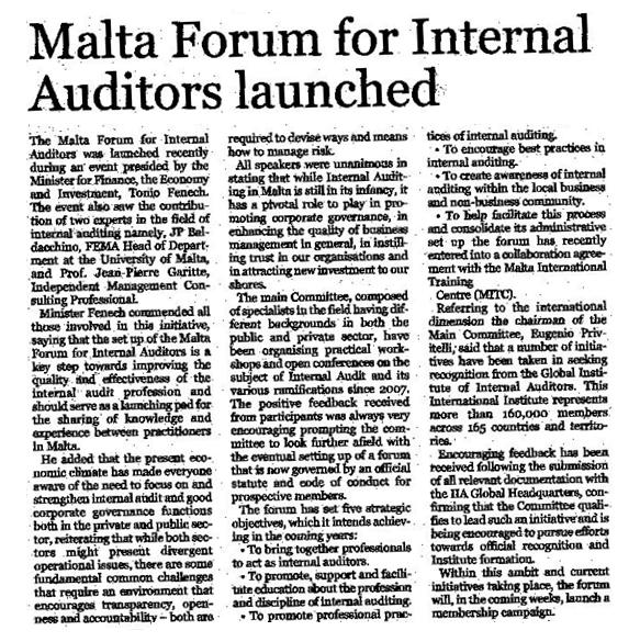 role played by professional auditors in